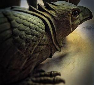 Crouching Raven Detail